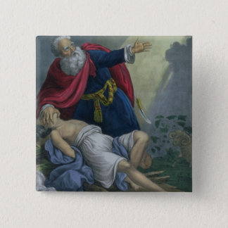 Abraham Offering Up his Son Isaac, from a Bible pr 15 Cm Square Badge