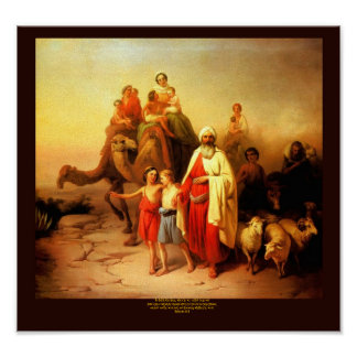 Abrahams Journey by Josef Molnar Poster