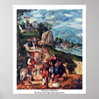 Abraham'S Sacrifice By Braunschweiger Monogrammist Poster