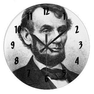 Abrahan Lincoln Large Clock