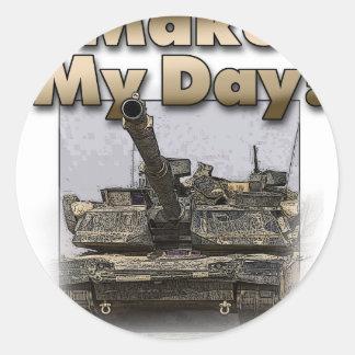 Abrams Tank - Make My Day! Round Sticker