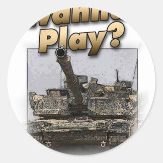 Abrams Tank - Wanna Play? Sticker