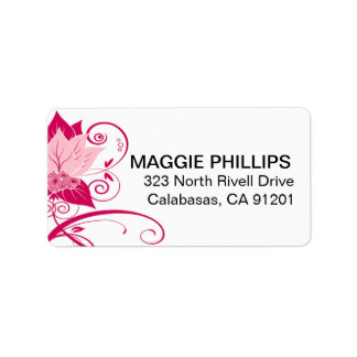 Abraxas Abstract Floral | pink magenta Address Label