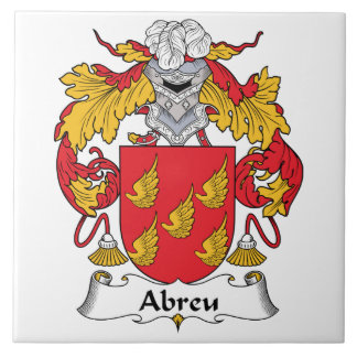 Abreu Family Crest Ceramic Tile