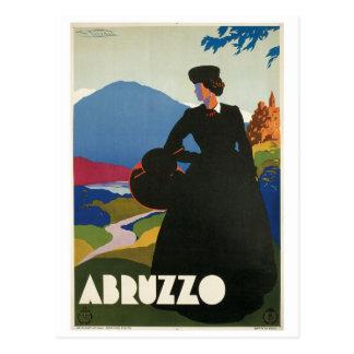 Abruzzo, Italy vintage travel poster Postcard