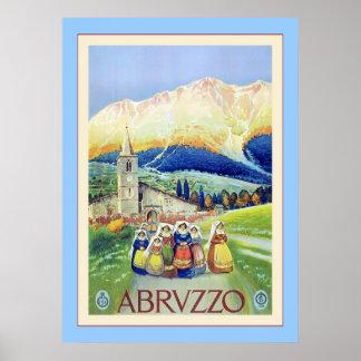 Abruzzo Vintage Italian Travel Posters