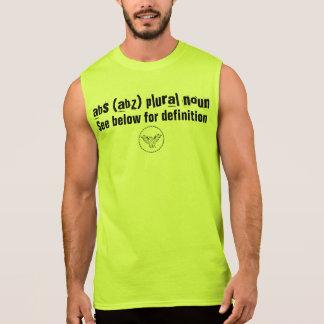 abs (abz) plural noun sleeveless shirt