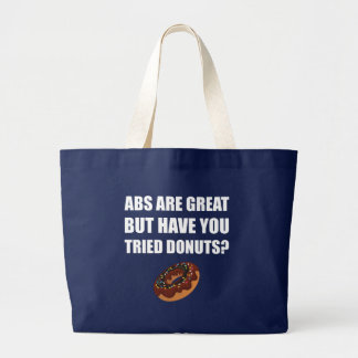 ABS Great Tried Donuts Large Tote Bag