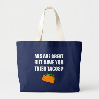 ABS Great Tried Tacos Large Tote Bag