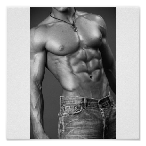 Abs & Jeans Poster