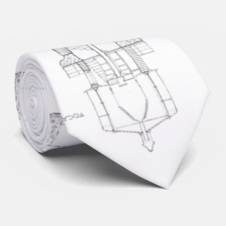 Absecon Lighthouse Blueprint Tie