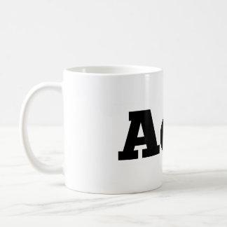 "Absence of Wax / ""AoW"" logo coffee mug"