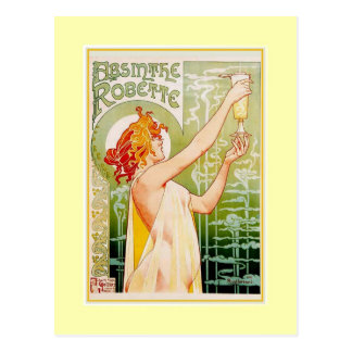 Absinthe Advert Postcard