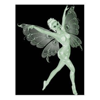 Absinthe Art Signature Green Fairy 3B Postcard