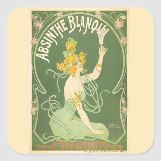 Absinthe Blanqui Nover Fine Art Square Sticker