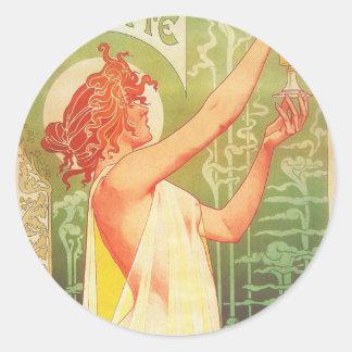 Absinthe Blanqui Vintage French poster advert Classic Round Sticker