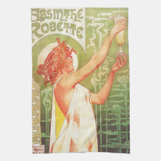Absinthe Blanqui Vintage French poster advert Tea Towel