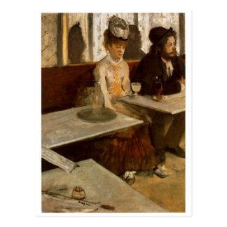 Absinthe by Degas Postcard