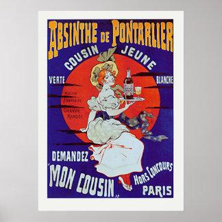 Absinthe de Pontarlier Print
