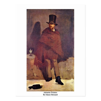 Absinthe Drinker By Manet Edouard Postcard