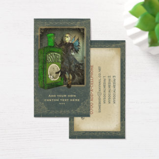 Absinthe Faerie - La Fée Verte - The Green Fairy Business Card