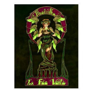Absinthe Fairy Postcard