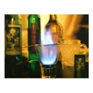Absinthe Fire Postcard