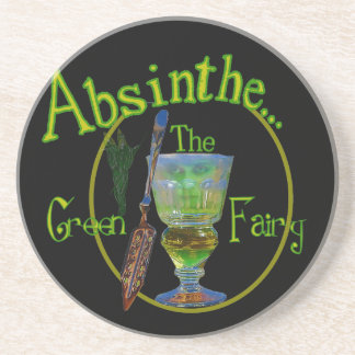 Absinthe Green Fairy Beverage Coasters