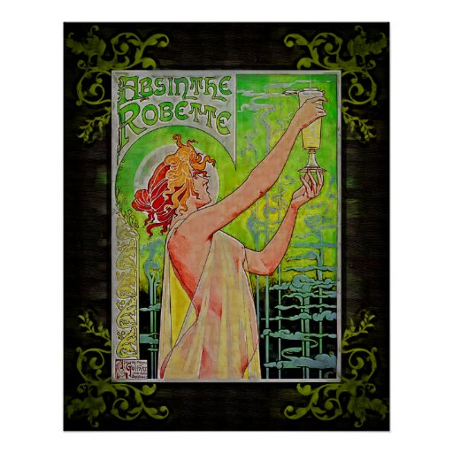 Absinthe Green Fairy Poster