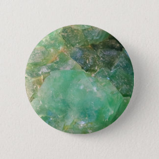 Absinthe Green Quartz Crystal 6 Cm Round Badge