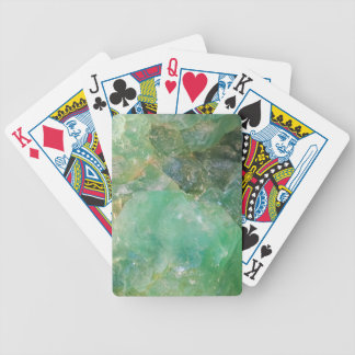 Absinthe Green Quartz Crystal Bicycle Playing Cards