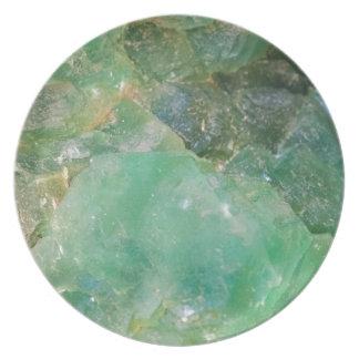 Absinthe Green Quartz Crystal Party Plate