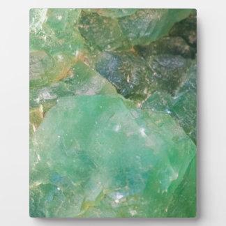 Absinthe Green Quartz Crystal Plaque