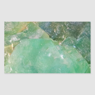 Absinthe Green Quartz Crystal Rectangular Sticker