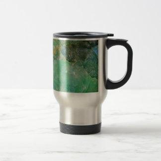 Absinthe Green Quartz Crystal Travel Mug