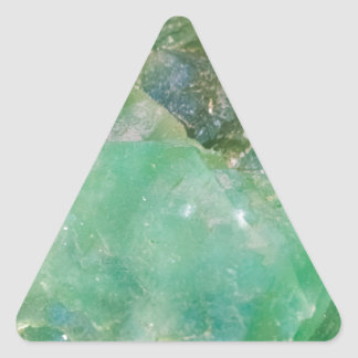 Absinthe Green Quartz Crystal Triangle Sticker