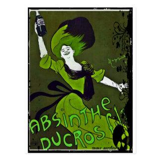 Absinthe in Green Postcard