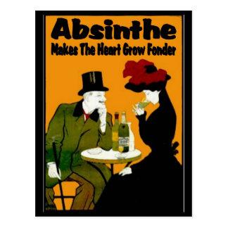 Absinthe MAkes The Heart Grow Fonder Postcard