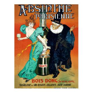 Absinthe Parisienne vintage French advertisement Postcard