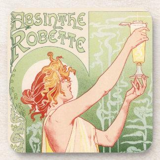 Absinthe Robette - Alcohol Vintage Poster Beverage Coaster
