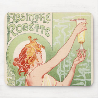 Absinthe Robette - Alcohol Vintage Poster Mouse Pad