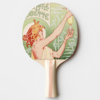 Absinthe Robette - Alcohol Vintage Poster Ping Pong Paddle