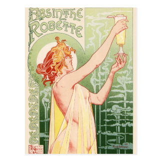 Absinthe Robette - Alcohol Vintage Poster Postcard