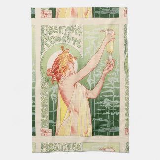 Absinthe Robette - Alcohol Vintage Poster Tea Towel
