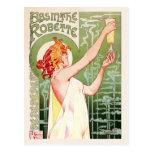 Absinthe Robette (cream) Postcard
