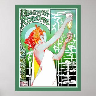 Absinthe Robette Vintage Advert Print