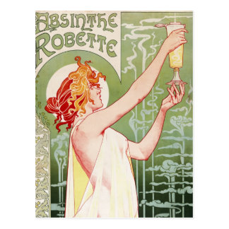 Absinthe Robette - Vintage French Ad Postcard