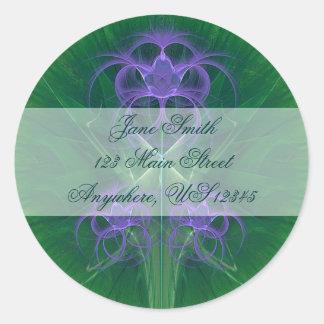 Absinthe Tulips Mandala Classic Round Sticker