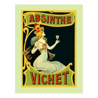 Absinthe Vichet, modern art nouveau Postcard