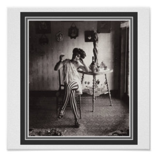 """""""Absinthe While She Waits"""" 12 x 12 Poster"""